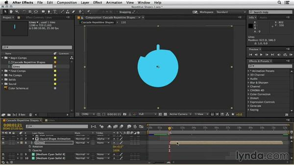 Integrating the animation into the main comp: Mograph Techniques: Shape Animation in After Effects