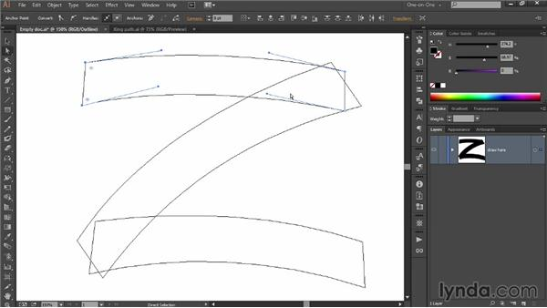 Bending segments with the Pen tool: Draw Better and Faster with Illustrator CC