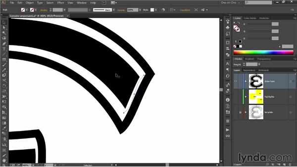 Tweaking a design with the Pencil tool: Draw Better and Faster with Illustrator CC