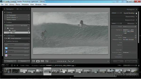 Creating stills from video: Working with Video in Lightroom