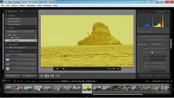 Removing adjustments to a clip: Working with Video in Lightroom