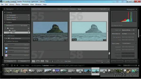 Working with virtual copies of clips: Working with Video in Lightroom