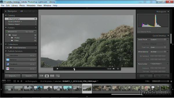 Create a reference still for developing: Working with Video in Lightroom