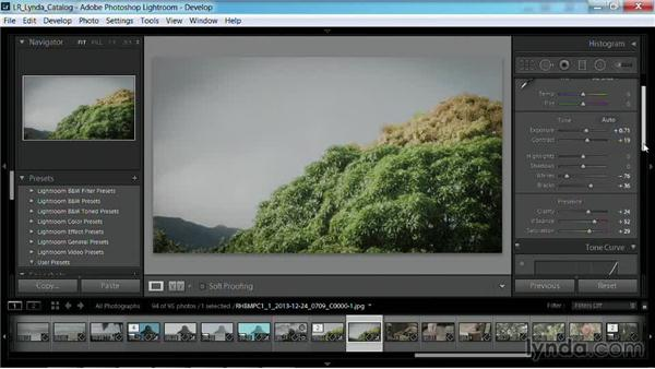 Syncing settings across videos and stills: Working with Video in Lightroom