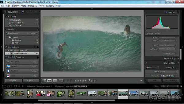 Adjusting video clips in the slideshow: Working with Video in Lightroom