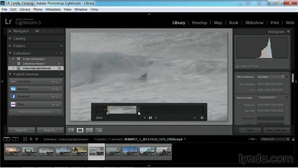 Creating a video-only slideshow: Working with Video in Lightroom