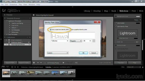 Adding a watermark to video: Working with Video in Lightroom