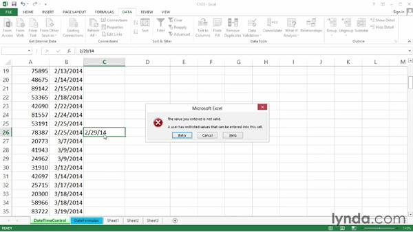 Welcome: Excel 2013: Data Validation in Depth