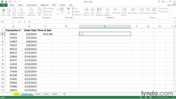 Time limitations using formulas: Excel 2013: Data Validation in Depth