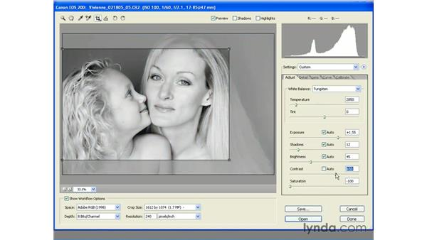 Non-Destructive Cropping: Photoshop CS2 Essential Training