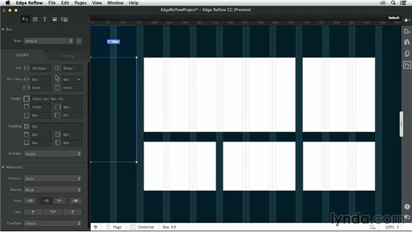 Creating a layout: Creating a Responsive Design with Edge Reflow