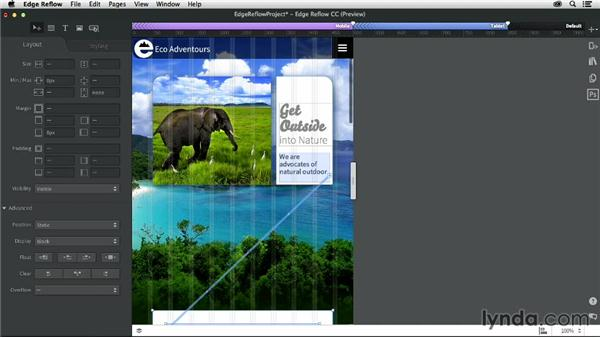 Creating a mobile layout: Creating a Responsive Design with Edge Reflow