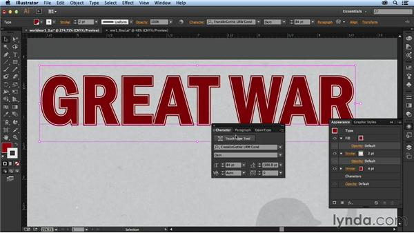 Creating a title treatment: Designing an Infographic