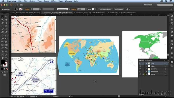 Re-creating the world map: Designing an Infographic