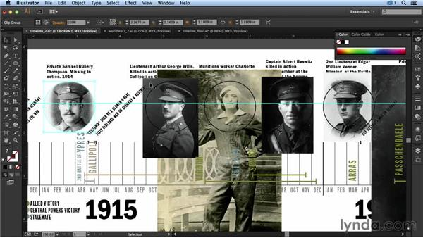 Adding the faces: Designing an Infographic