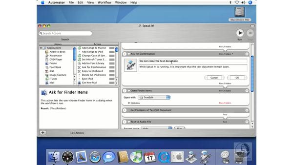 Creating Your First Automator Script: Mac OS X 10.4 Tiger Beyond the Basics