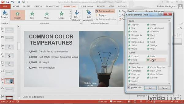 Goodbye: PowerPoint: Builds, Transitions, Animations, and Effects