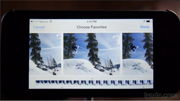 Reviewing and selecting images from burst mode: Shooting with the iPhone 5s
