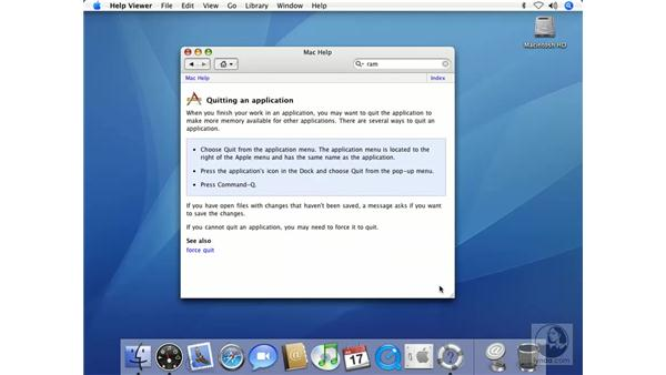 Online Help: Available When You Need it: Mac OS X 10.4 Tiger Beyond the Basics