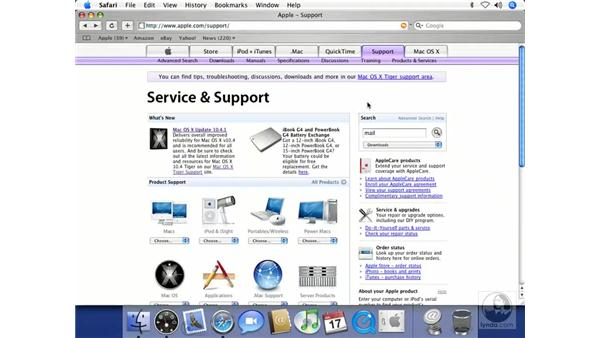 The Apple Support Website: Mac OS X 10.4 Tiger Beyond the Basics