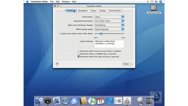 Using VoiceOver Utility: Mac OS X 10.4 Tiger Beyond the Basics