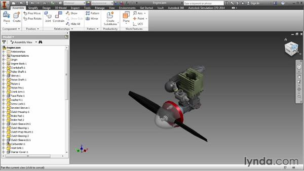 Navigating using the ViewCube: Inventor 2014 Essential Training