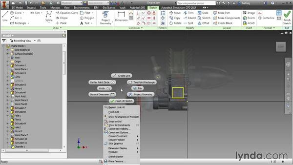 Using the Marking menu: Inventor 2014 Essential Training