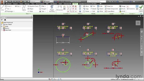 Understanding constraints: Inventor 2014 Essential Training