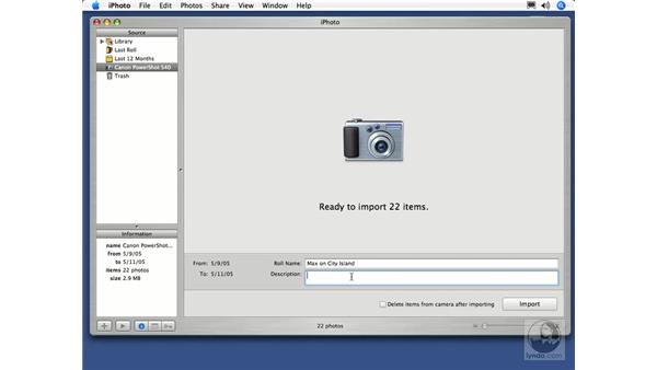 Importing From Your Camera: iPhoto 5 Essential Training
