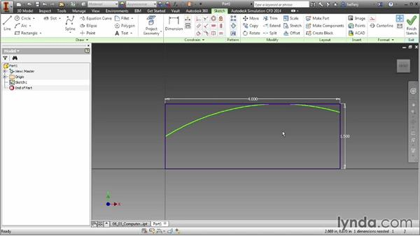 Creating rectangles and arcs: Inventor 2014 Essential Training