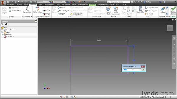 Parameters: Inventor 2014 Essential Training