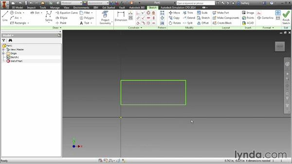 Move, copy, and rotate sketch geometry: Inventor 2014 Essential Training