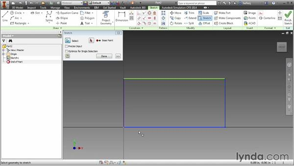 Scale, stretch, and offset geometry: Inventor 2014 Essential Training