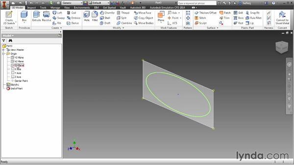 Understanding work features: Inventor 2014 Essential Training