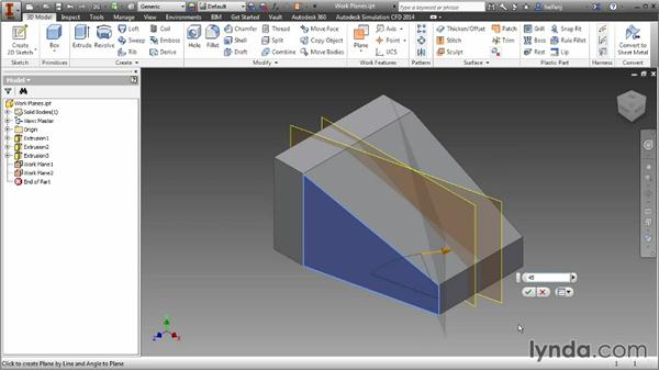 Creating work planes: Inventor 2014 Essential Training