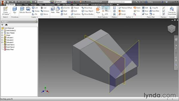 Creating work axes and points: Inventor 2014 Essential Training