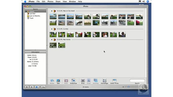 The iPhoto Library: iPhoto 5 Essential Training