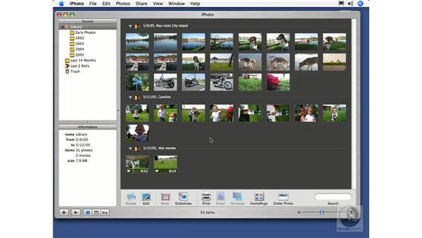 Film Rolls: iPhoto 5 Essential Training
