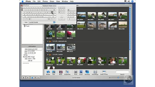 Naming Your Photos: iPhoto 5 Essential Training