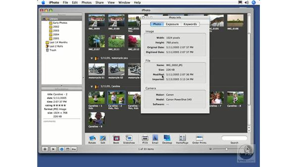 Viewing Photo Info: iPhoto 5 Essential Training