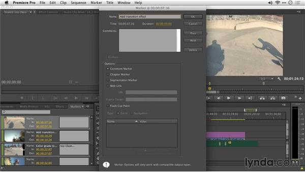 Improvements to markers and the Marker panel: Premiere Pro: Creative Cloud Updates