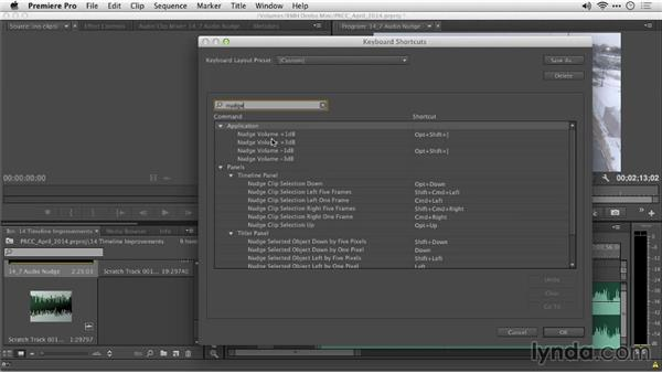Nudging audio: Premiere Pro: Creative Cloud Updates