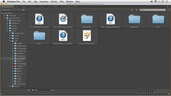 Setting Media Browser favorites: Premiere Pro: Creative Cloud Updates