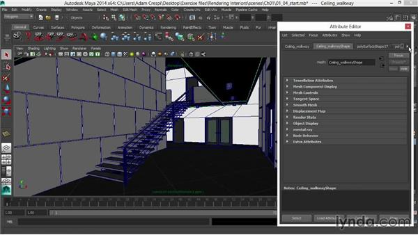 Adding luster to wood: Rendering Interiors in Maya