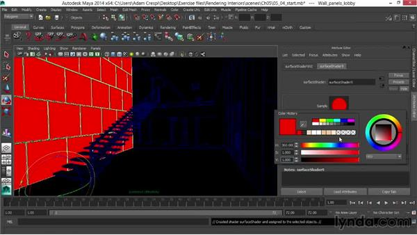 Setting up custom masks for compositing flexibility: Rendering Interiors in Maya