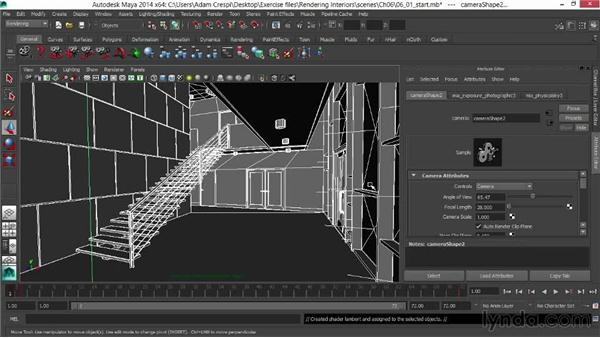 Rendering a depth pass in Maya software: Rendering Interiors in Maya