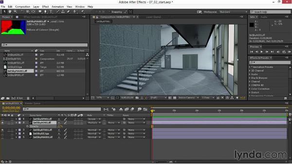 Setting blending modes and adjusting opacity: Rendering Interiors in Maya