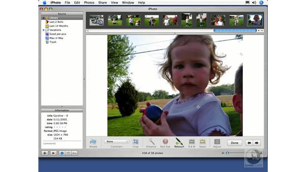 Retouching: iPhoto 5 Essential Training