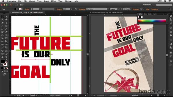 Spacing the type: Type Project: Constructivist Poster