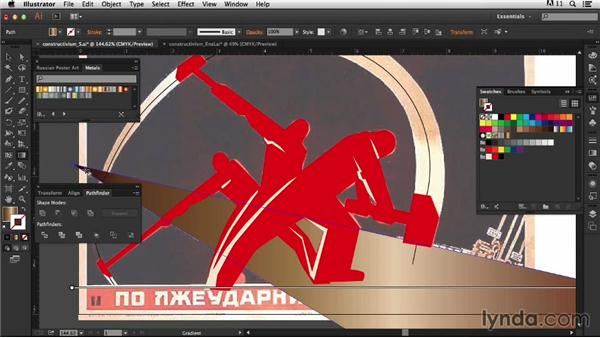 Adding the illustration: Type Project: Constructivist Poster